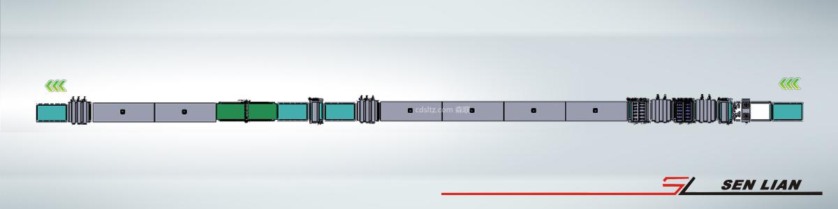 橱柜自动uv涂装生产线3d模拟俯视图